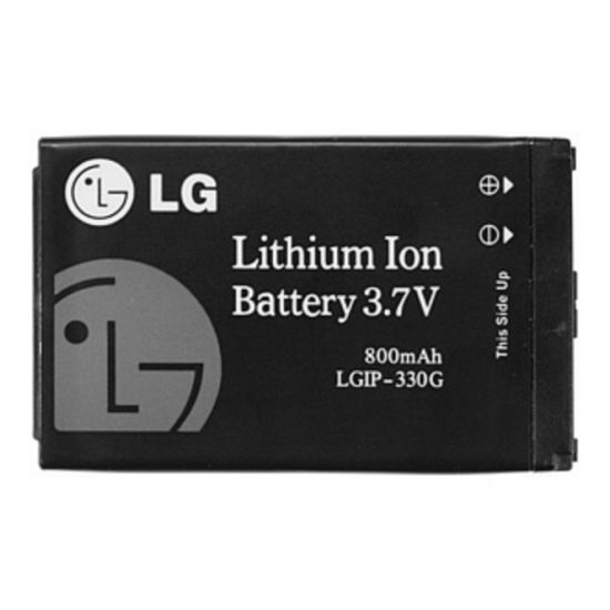 LGIP-330g (800mAh) - LG KS360, KM380, KT520, KF300, KF750, KF755, KF240, KF245, KM500, KM385, KM386   BULK