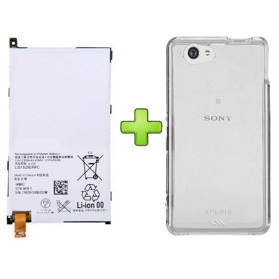 Originální baterie pro Sony Xperia Z1 Compact-D5503, (2300 mAh) + pouzdro v hodnotě 8.99 EUR