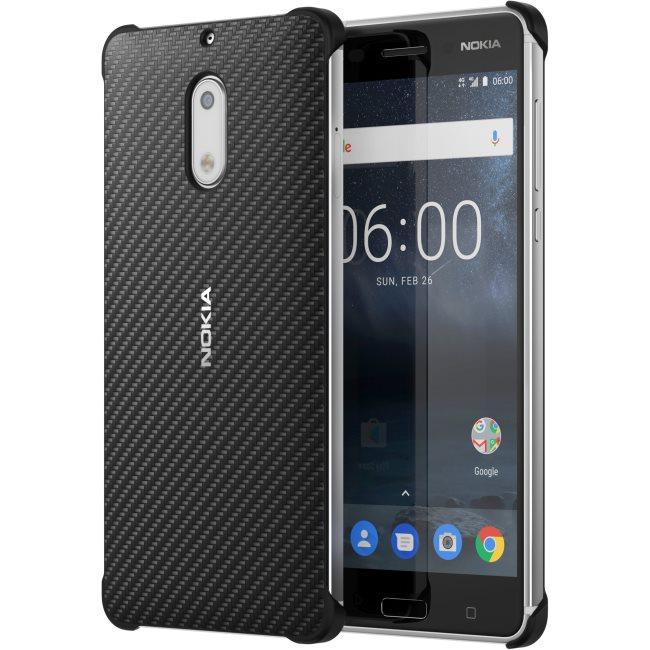 Originální pouzdro Nokia Carbon Fibre CC-802 pro Nokia 6, Black