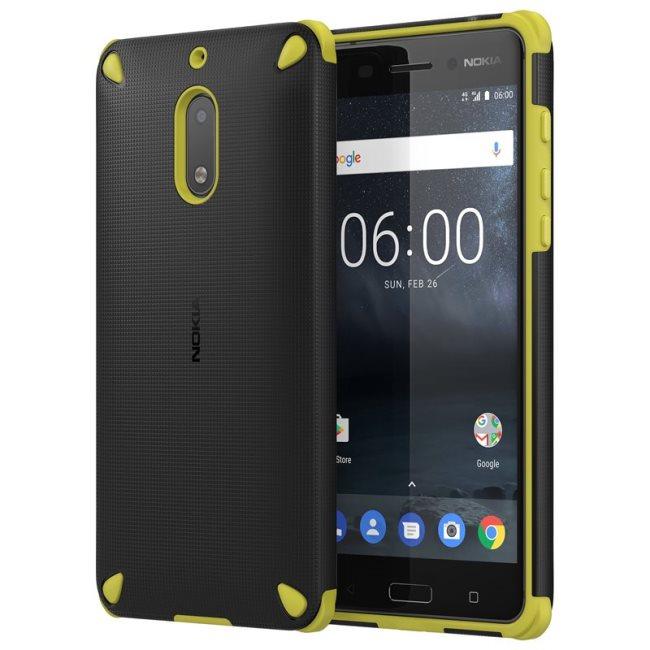 Originální pouzdro Nokia Rugged Impact CC-501 pro Nokia 6, Lemon Black