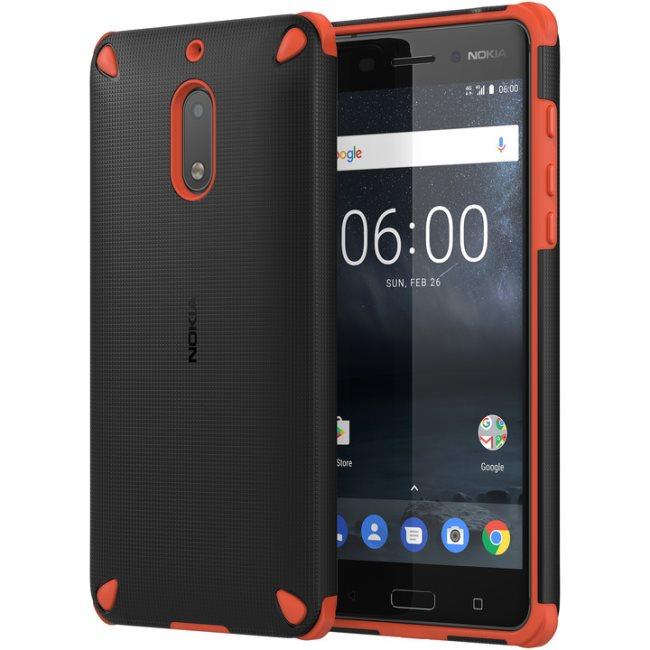 Originální pouzdro Nokia Rugged Impact CC-501 pro Nokia 6, Orange Black