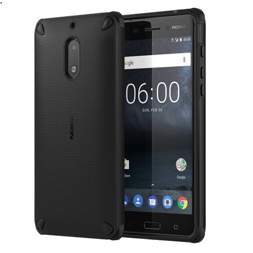 Originální pouzdro Nokia Rugged Impact CC-501 pro Nokia 6, Pitch Black