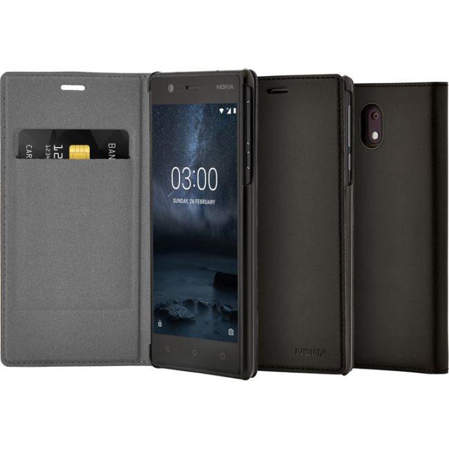 Originální pouzdro Nokia Slim Flip CP-303 pro Nokia 3, Black