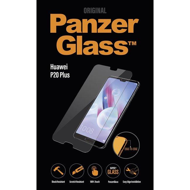 Ochranné temperované sklo PanzerGlass na celý displej pro Huawei P20 Pro, černé