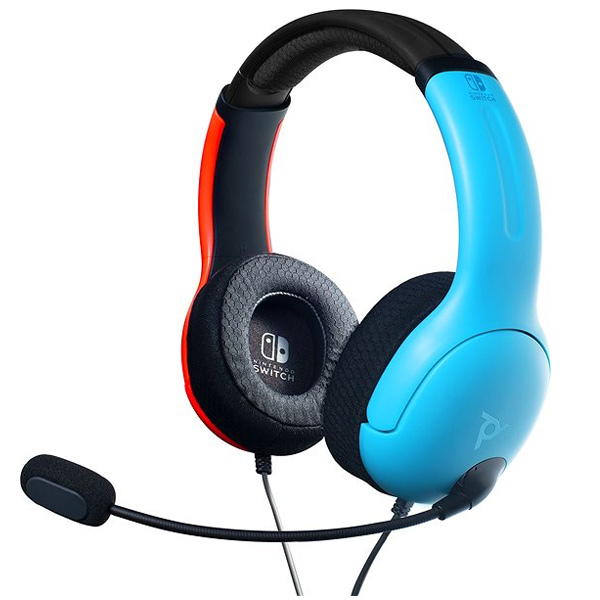 PDP LVL40 Wired Headset for Nintendo Switch, blue/red