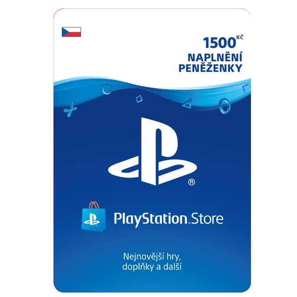 PlayStation Store 1500 Kč-elektronická peněženka