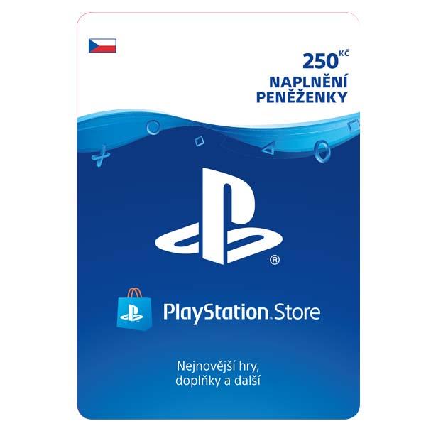 PlayStation Store 250 Kč-elektronická peněženka