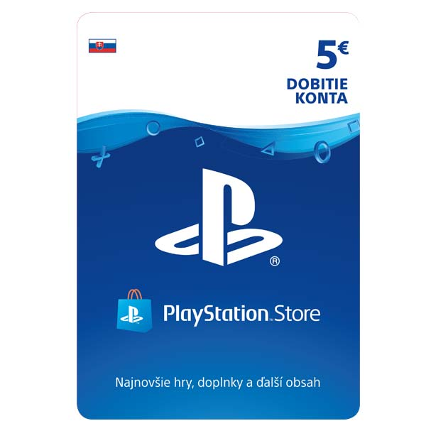 PlayStation Store 5 €-elektronická peněženka