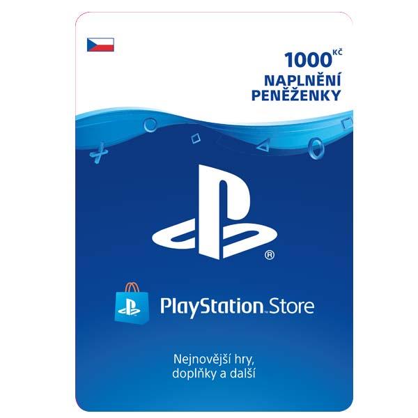 PlayStation Store naplnenie peňaženky 1000 Kč