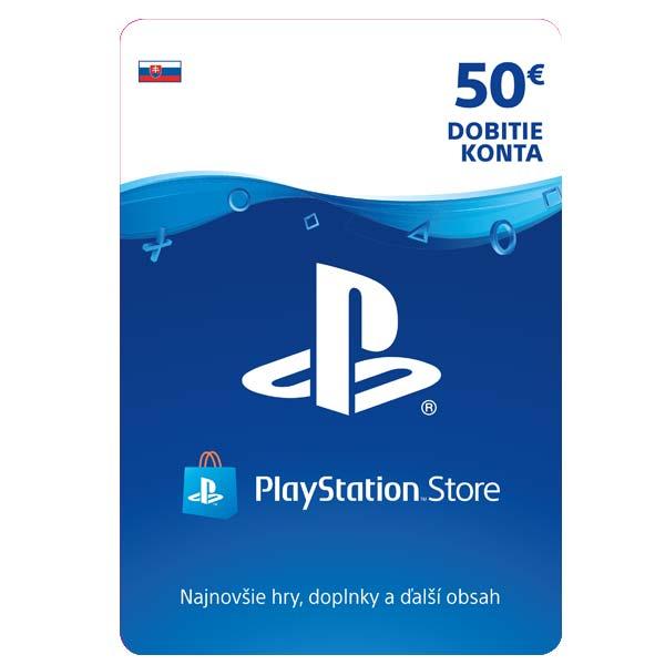 PlayStation Store naplnění peněženky 50 €
