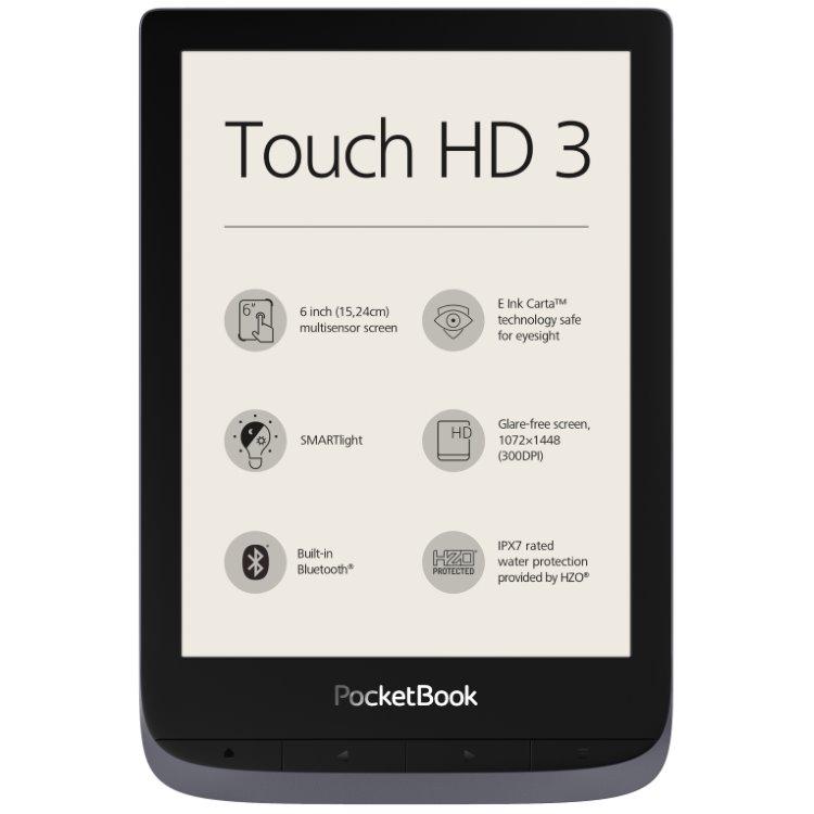 Pocketbook 632 Touch HD 3, šedý