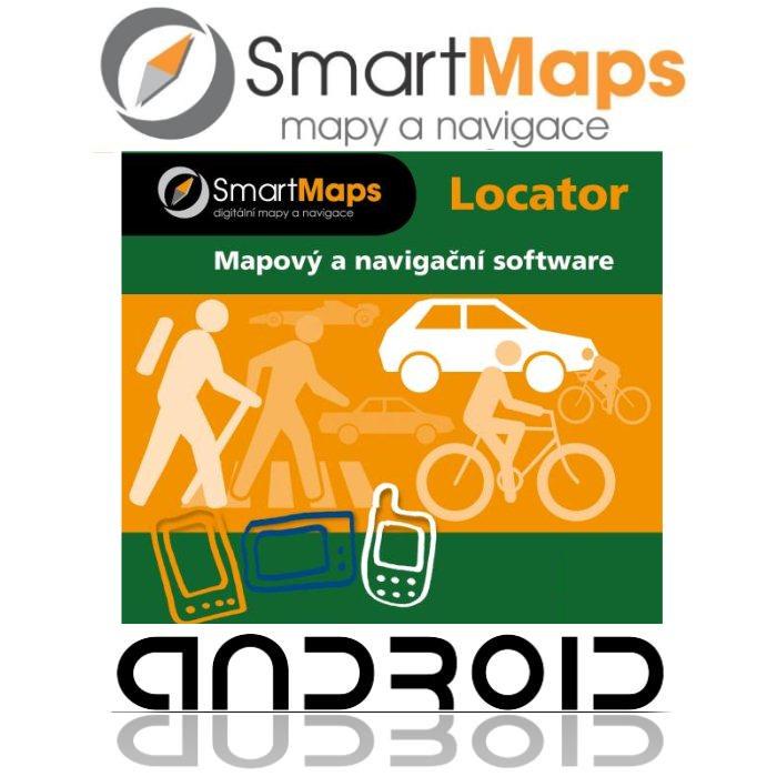 Navigace pro Android-Smart Maps Locator-podrobná mapa Česka-1:10 000