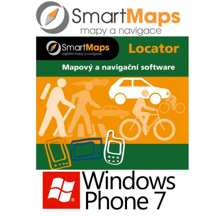 Navigace pro Windows Phone 7-Smart Maps Locator-podrobná mapa Slovenska-1:10 000