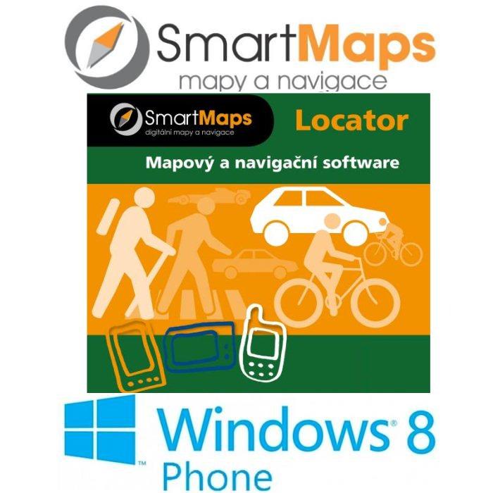 Navigace pro Windows Phone 8-Smart Maps Locator-podrobná mapa Slovenska-1:10 000