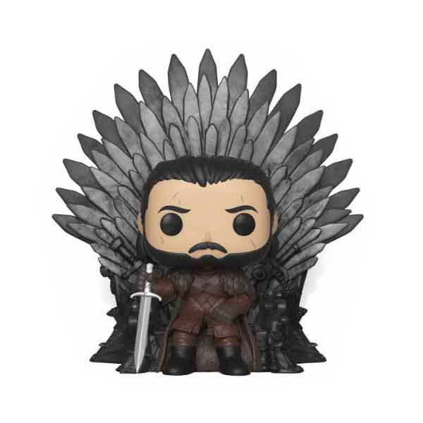 POP! Jon Sníh on Iron Throne Deluxe (Game of Thrones) 15 cm
