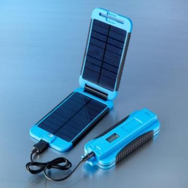 Powermonkey-eXtreme (Solární outdoorová nabíječka) + PowerBank 9000mAh | modrá