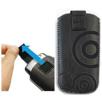 Pouzdro 4-OK Design Waves-Size iPhone 5, Black