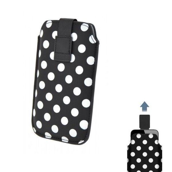 Pouzdro 4-OK Dots-Size iPhone 4/4S, Black
