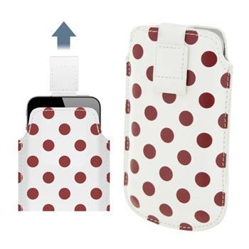 Pouzdro 4-OK Dots-Size iPhone 4/4S, White