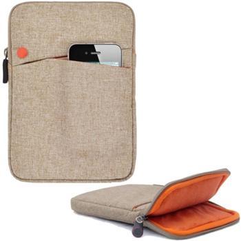 Pouzdro 4-OK Nara pro Prestigio MultiPad 4 QUANTUM 8.0 3G-PMT5487, Light Brown