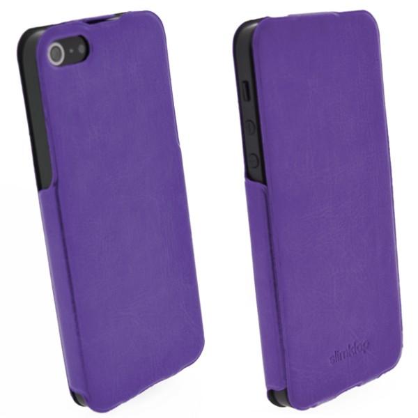 Pouzdro 4-OK SLIM KLAP CASE pro iPhone 5, purple