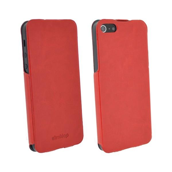 Pouzdro 4-OK SLIM KLAP CASE pro iPhone 5, red