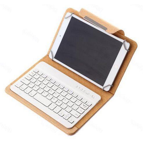 Pouzdro BestCase Elegance s Bluetooth klávesnicí pro Prestigio MultiPad 4 Quantum 8.0 3G - PMT5487, Gold