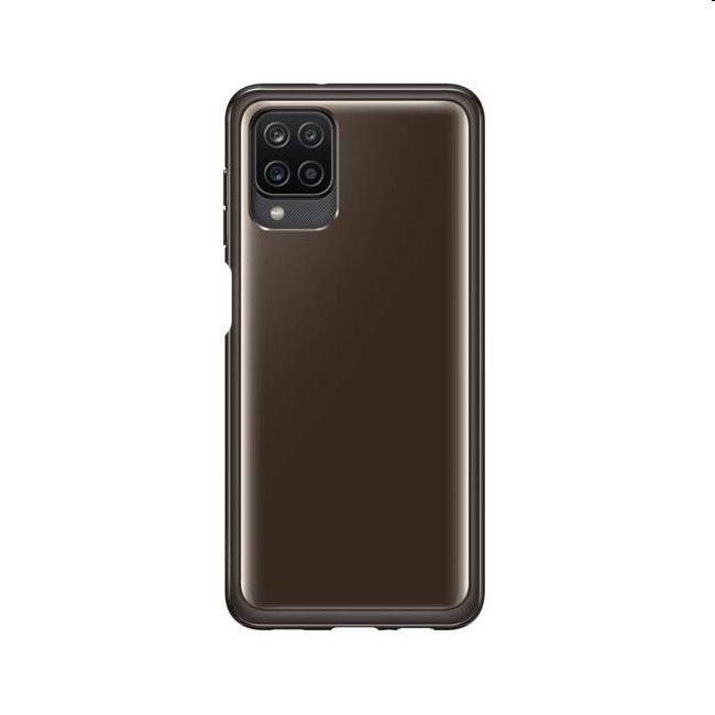 Puzdro Clear Cover pre Samsung Galaxy A12 - A125F, black (EF-QA125T)