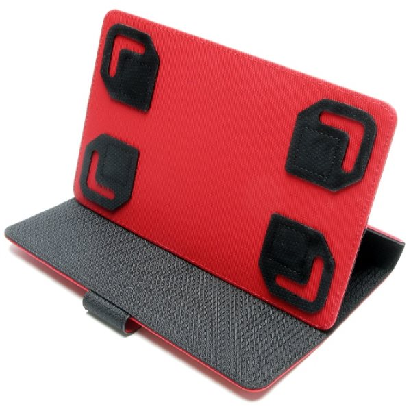 Pouzdro Fixed TwoFace pro Váš tablet (kolem 7 ''), černo-červené