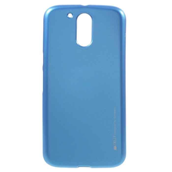 Pouzdro i-Jelly pro Lenovo Moto G5 Plus-XT1685, Blue