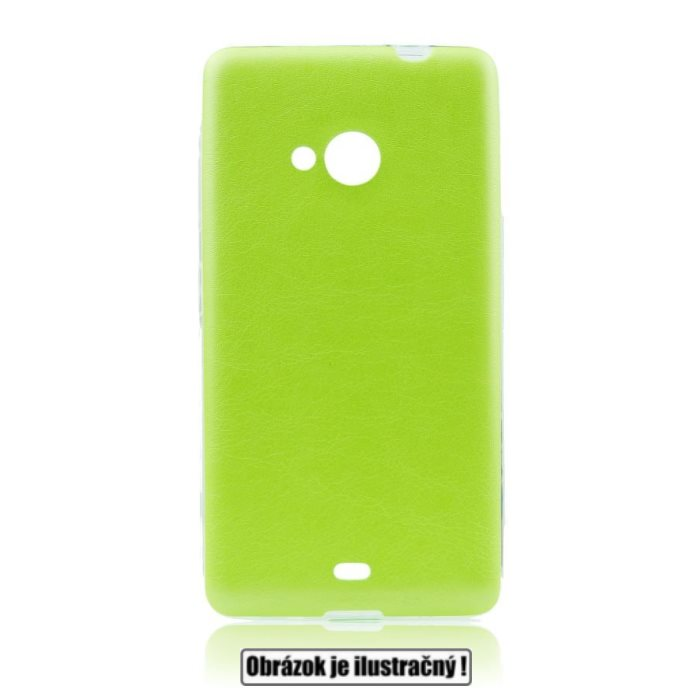 Pouzdro Jelly Leather pro Samsung Galaxy S6 - G920F, Lime