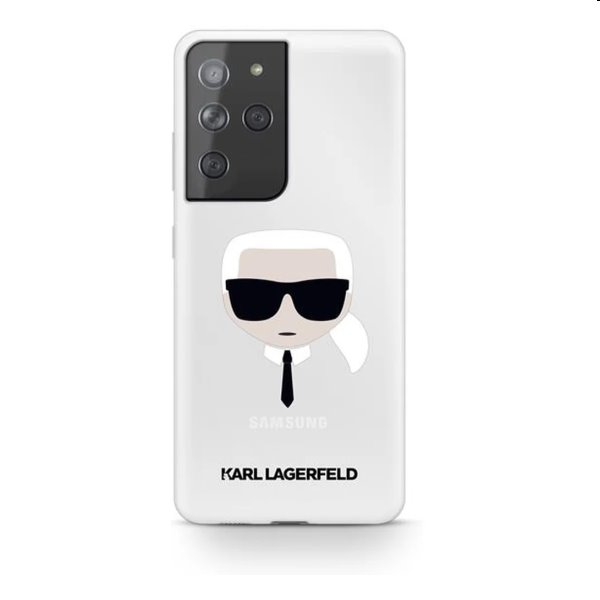 Pouzdro Karl Lagerfeld PC/TPU Head pro Samsung Galaxy S21 Ultra - G998B, transparentní