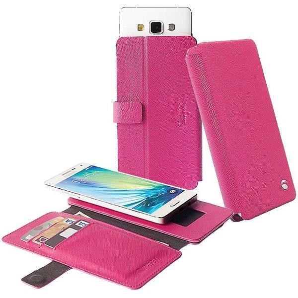 Pouzdro Krusell Malmo FlipWallet Slide pro Doogee Hitman DG850, Pink