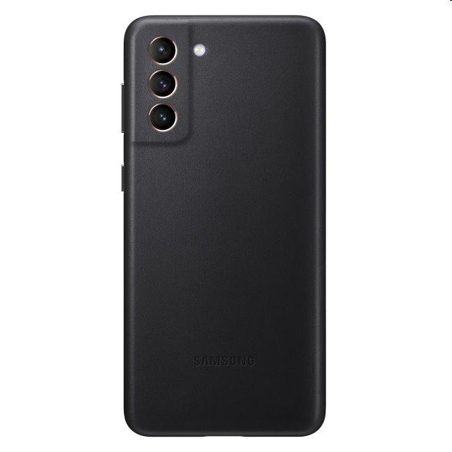 Puzdro Leather Cover pre Samsung Galaxy S21 - G991B, black (EF-VG991L)