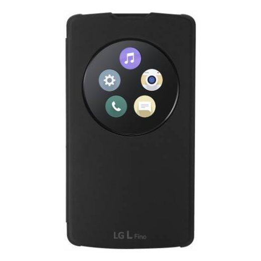 Pouzdro LG CCF-550 QuickCircle pro LG L Fino - D290n a L Fino - D295, Black