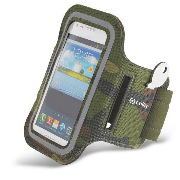 Puzdro na rameno Celly pre Lenovo (Motorola) Moto G LTE 2015 3gen - XT1541, Green Camo