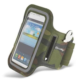 Puzdro na rameno Celly pre Motorola Moto G LTE 2014 2gen - XT1072, Green Camo
