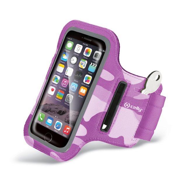 Puzdro na rameno Celly pre Motorola Moto G LTE 2014 2gen - XT1072, Pink Camo