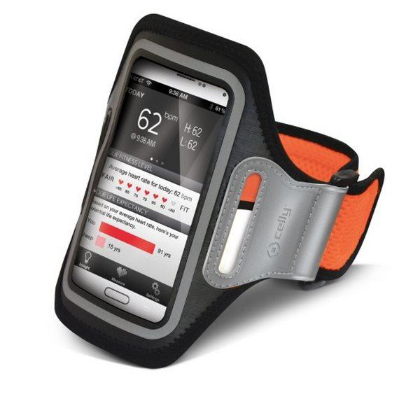 Puzdro na rameno Celly pre Samsung Galaxy Alpha - G850, Orange