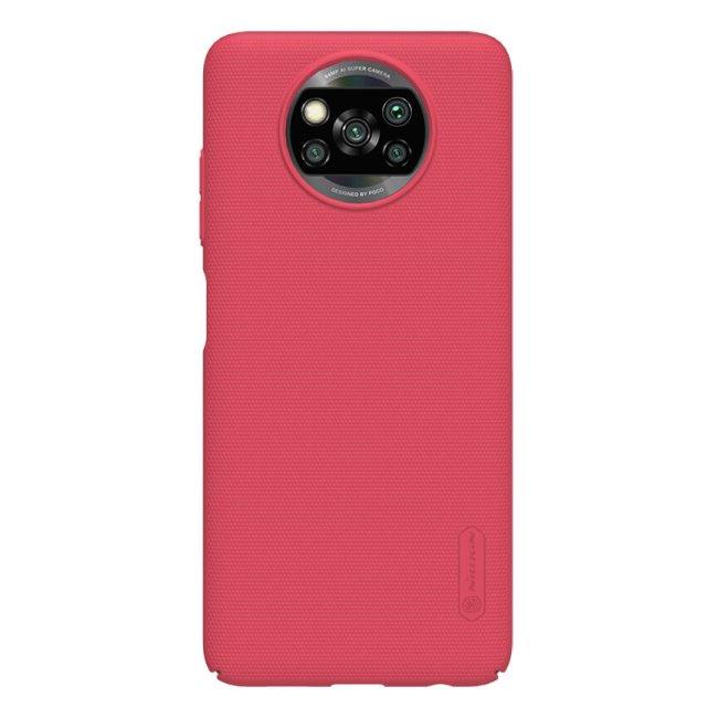 Pouzdro Nillkin Super Frosted pro Xiaomi Poco X3 (NFC), červené