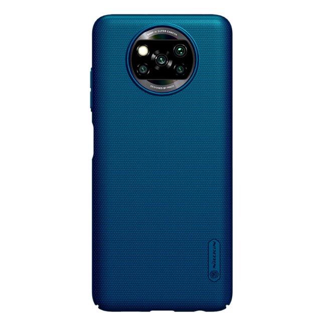 Pouzdro Nillkin Super Frosted pro Xiaomi Poco X3 (NFC), modré