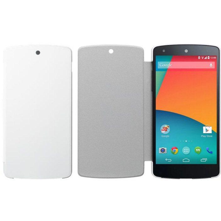 Pouzdro originální pro LG NEXUS 5-D821 ochranná fólie na displej, White