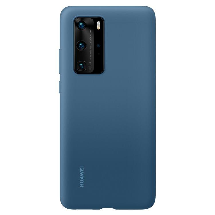 Pouzdro originální Silicone Case pro Huawei P40 Pro, Blue