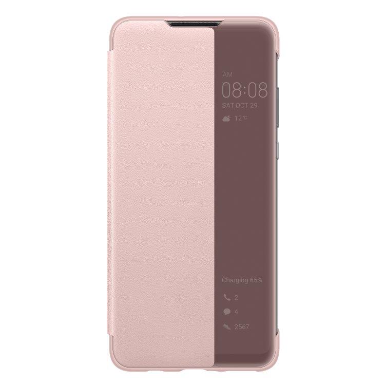 Pouzdro originální Smart View pro Huawei P30 Lite, Pink