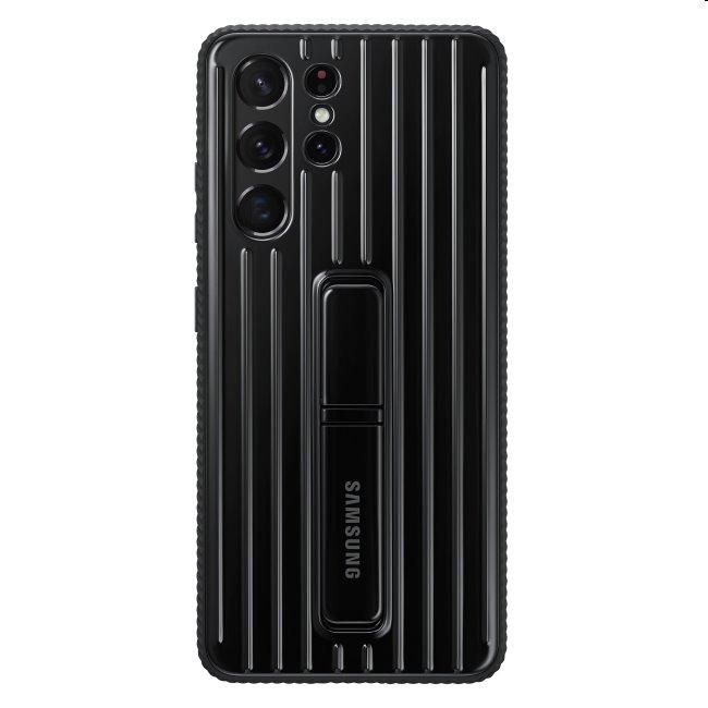 Puzdro Protective Standing Cover pre Samsung Galaxy S21 Ultra - G998B, black (EF-RG998C)