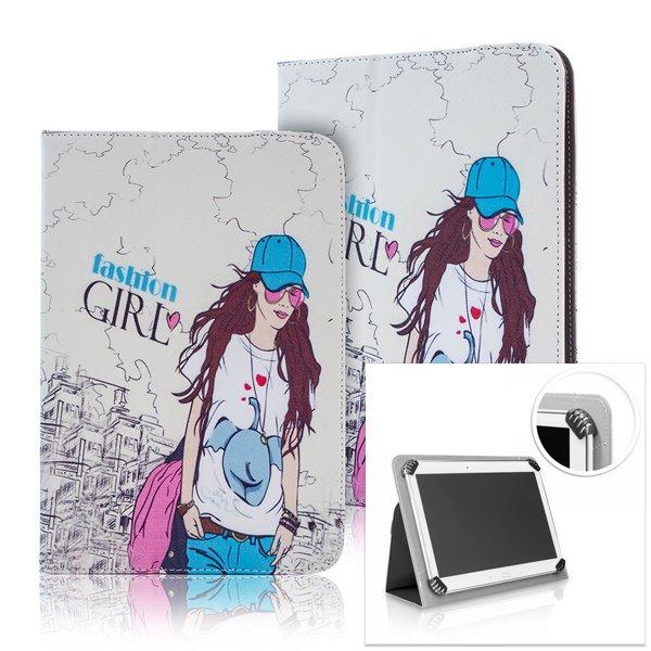 Pouzdro QAC Type 2 pro Váš tablet (kolem 7-8 ''), motiv Fashion Girl