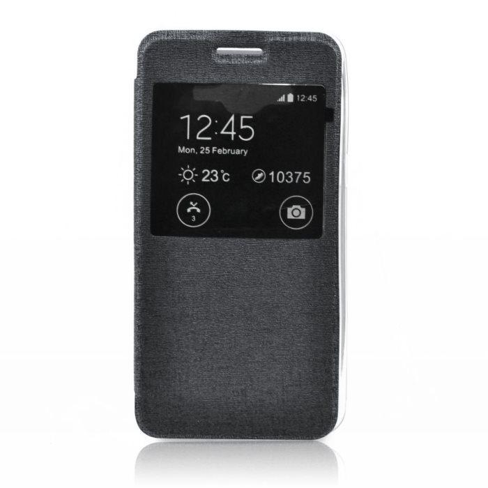 Pouzdro S-VIEW pro Nokia Lumia 730 a 735, Black