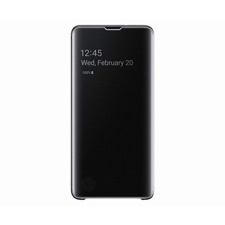 Pouzdro Samsung Clear View Cover EF-ZG975CBE pro Samsung Galaxy S10 Plus-G975F, Black