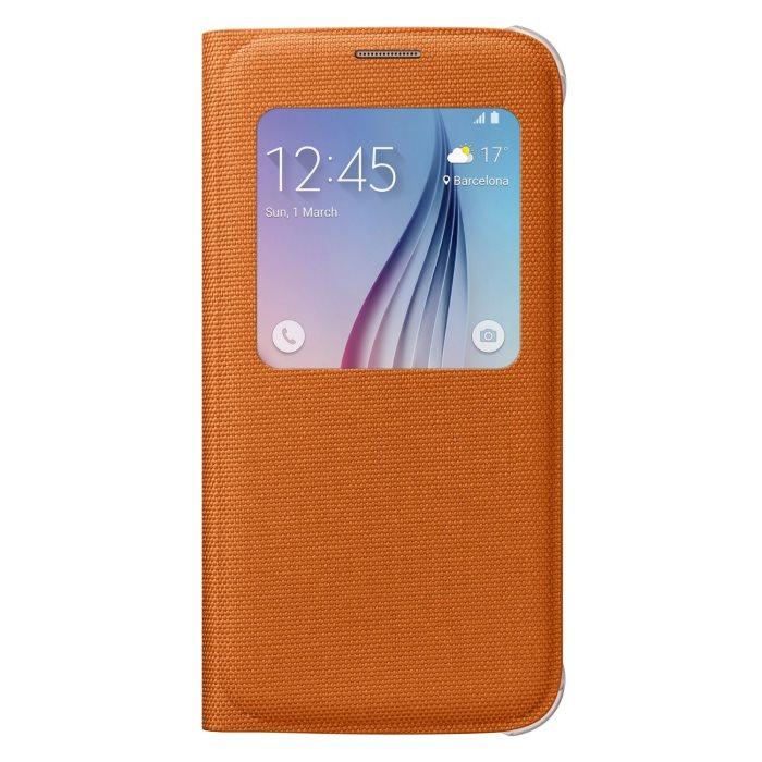 Pouzdro Samsung S-View EF-CG920B pro Samsung Galaxy S6-G920F, Orange