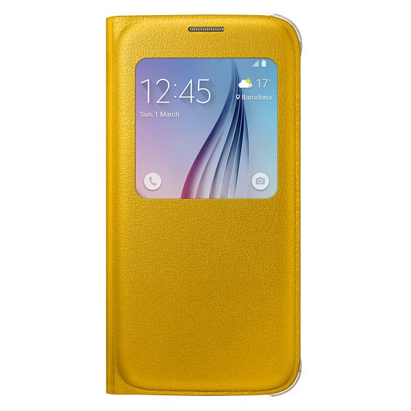 Pouzdro Samsung S-View EF-CG920PB pro Samsung Galaxy S6-G920F, Orange